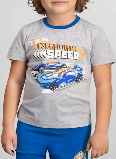 Hot Wheels Hot Wheels Lisanslı Grimelanj Erkek Çocuk Pijama Takımı Gri